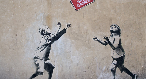 Banksy, No Ball Games, London