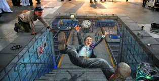 Julian Beever - Zurigo Station Accident