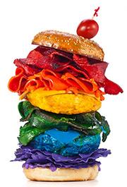 Rainbow hamburger - Henry Hargreaves