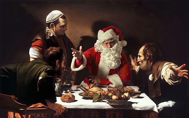 Ed Wheeler - Santa Classics - 'The supper at emmaus' by caravaggio, 1601