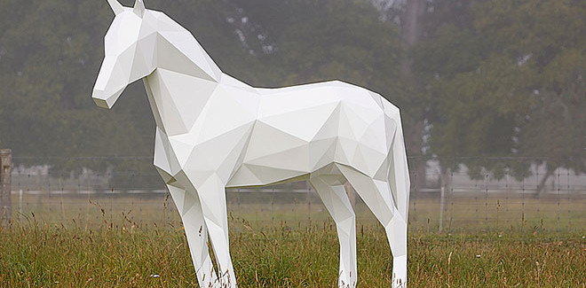 Ben Foster - Sculpture - The White Horse, 2013