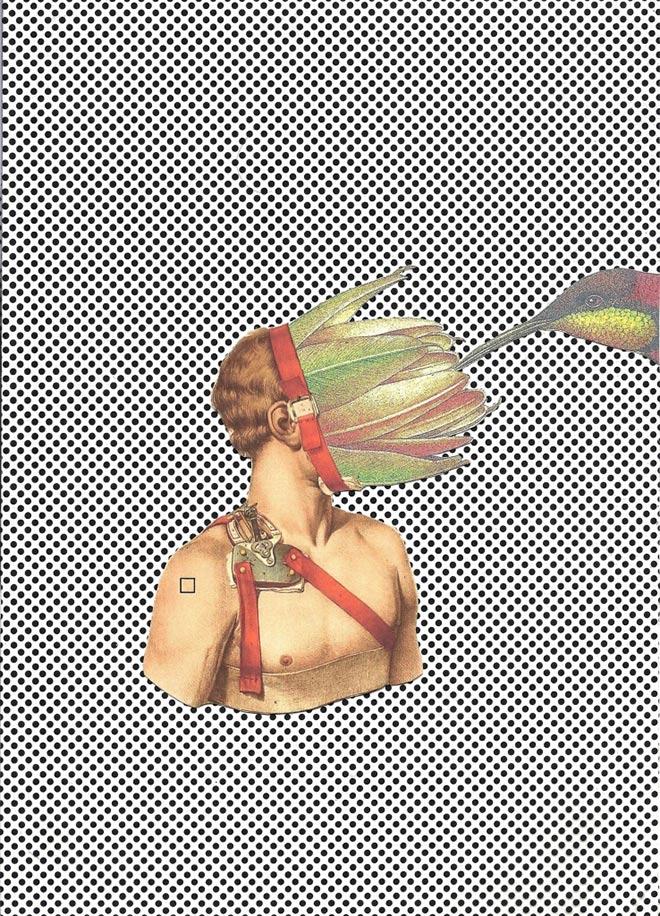 Escape Plan - Pasquale de Sensi - Collage su carta, 2013.