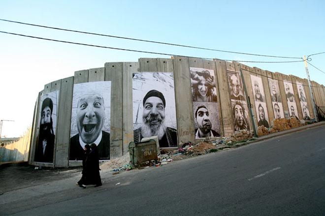 JR - Face 2 face, 2007 - Israele & Palestina