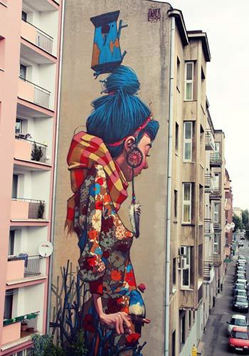 Urban Street Art - Sainer : Primavera Urban Forms Gallery,Lodz, Poland 2012