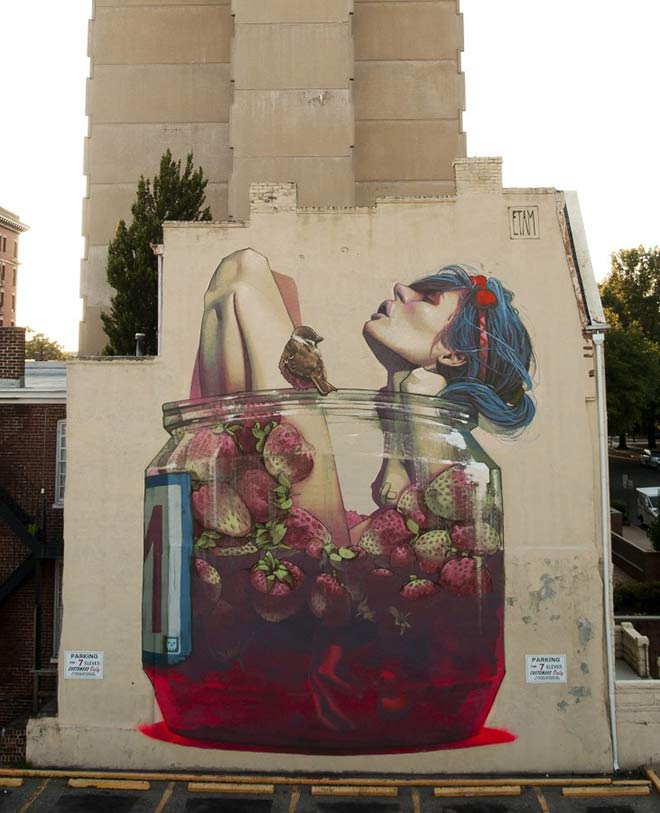 Etam Cru - Urban Street Art - Moonshine, Richmond, VA, United States, 2013