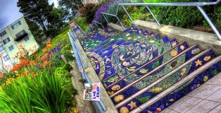 Creative stairs - Street Art - 16th Avenue Tiled Steps, San Francisco
