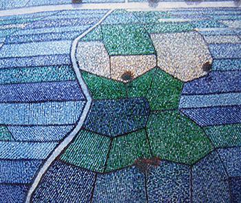 Masaaki Miyasako - Tourbillon -  Minerali e pigmenti vegetali su carta - 2012