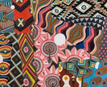 Zio Ziegler, Abstracted Sensation, 2014, mixed media on canvas, 101,6×76,2 cm.