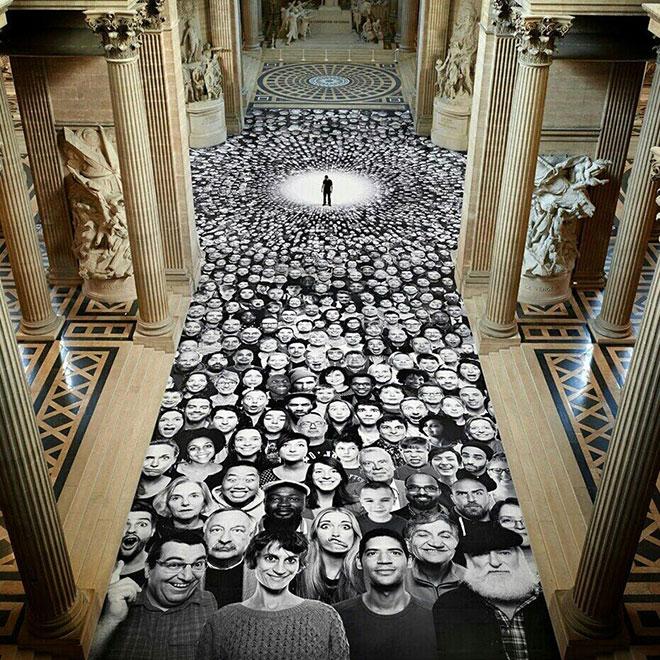 JR - Au Pantheon Installation
