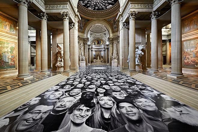 JR – Au Pantheon Installation