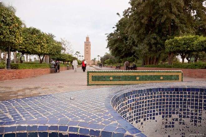 Street installations, Faded Grandeur, Marrakech, Morocco