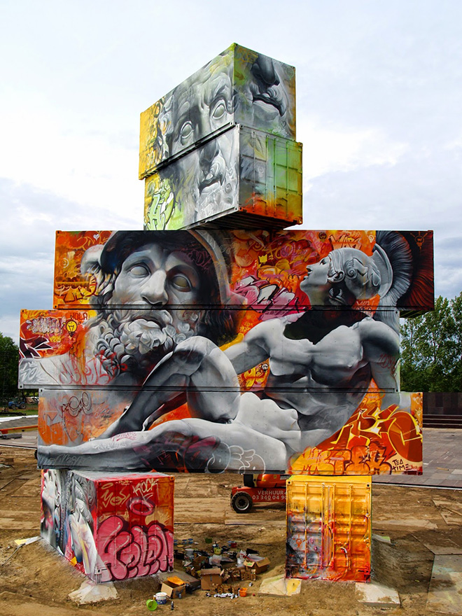 Pichi & Avo – Containers graffiti