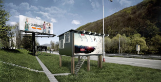 Billboard houses for Homeless - Gregory Ad
