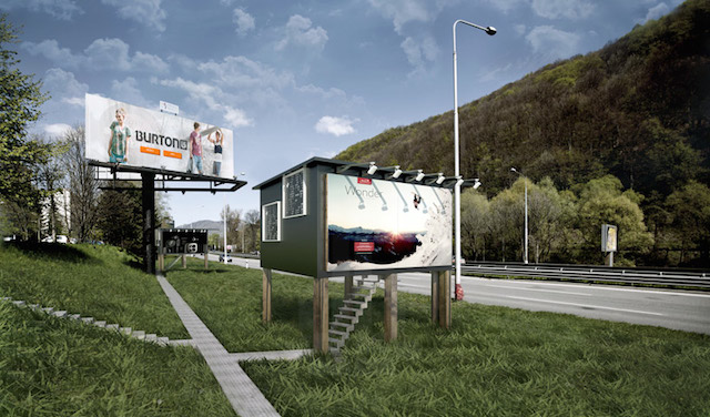 Billboard houses for Homeless