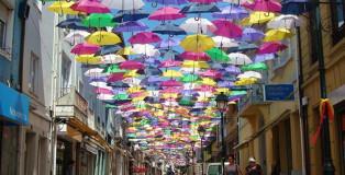 Umbrella sky installation - Portogallo