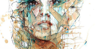 Carne Griffiths - Female portraits with Ink, Tea and Alcohol