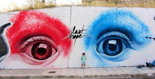 iNO - Street Art, Last Hope, Athens 2012