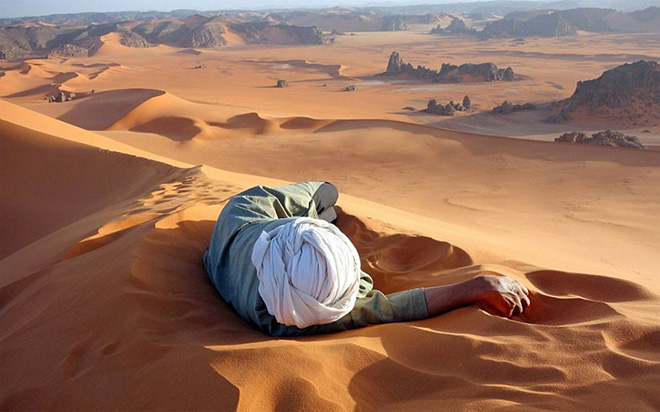 """Merit Prize Winner: """"A Well Earned Rest in the Sahara"""", Evan Cole"""