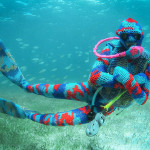Olek – Time Bomb, Ocean yarn bombing