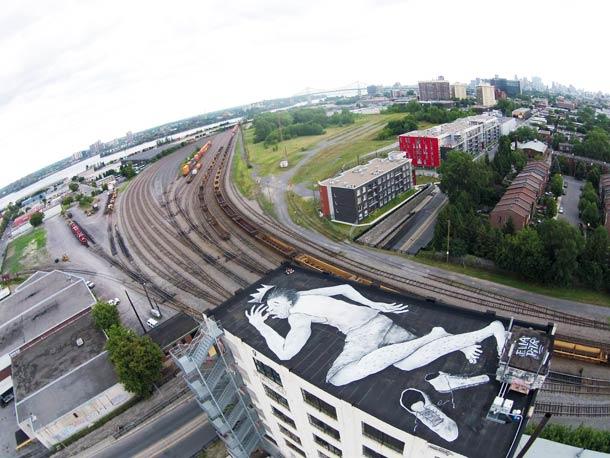 Papiers Peintres - Aerial street art
