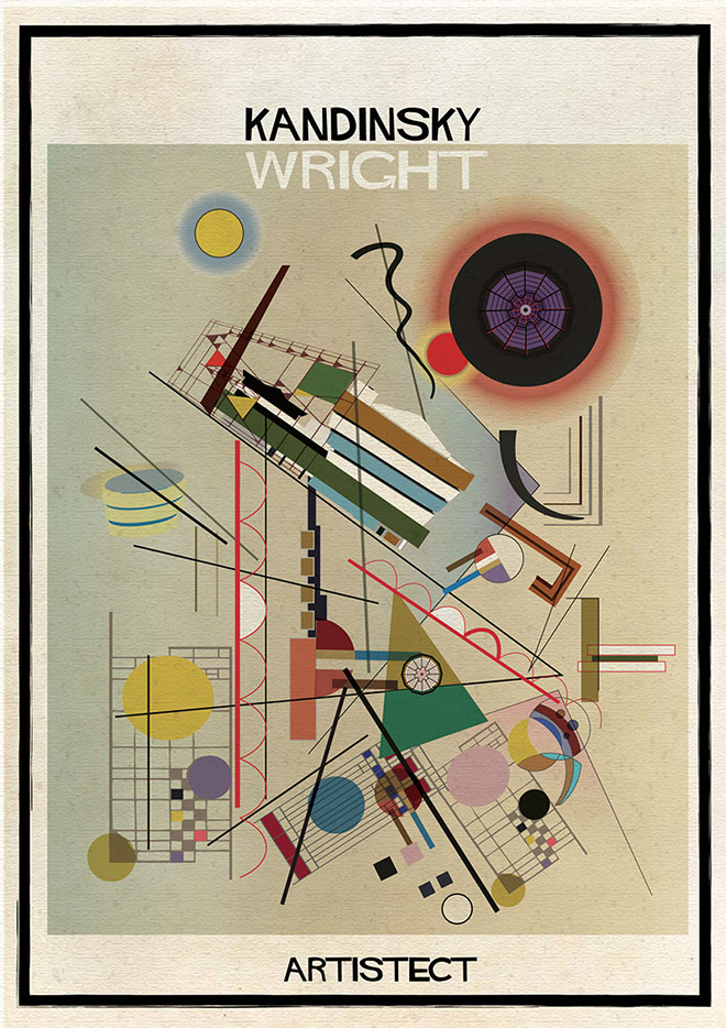Artistec,  Kandinsky + Wright
