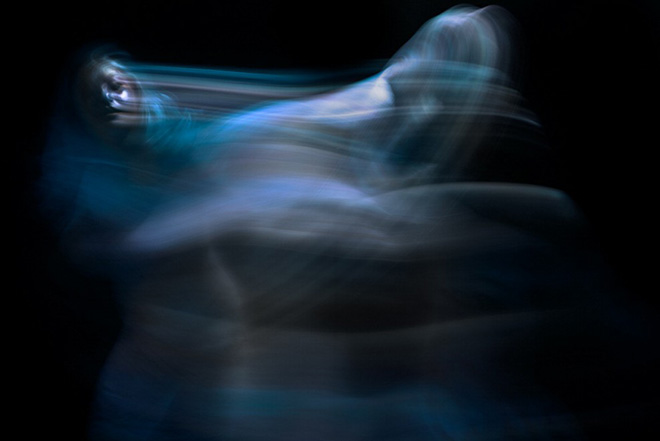 Blue shadow, Colors in Motion - Exploring body and movement trough photography and body art