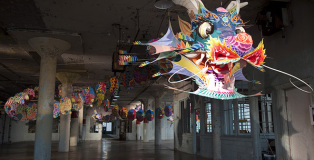 """Ai Weiwei - @large, """"with wind"""" Installations on Alcatraz Islands"""