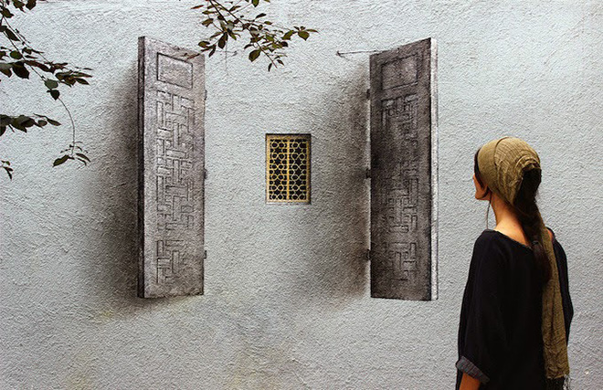 Pejac – Lock, Poster and Shutters in Istanbul