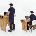 Refold – Recyclable Cardboard Standing Desk