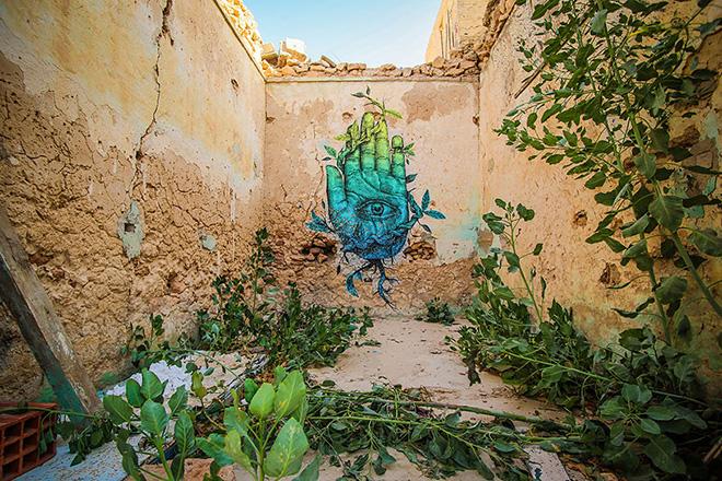 Il villaggio della street art in Tunisia, work by puerto rican artist alexis diaz