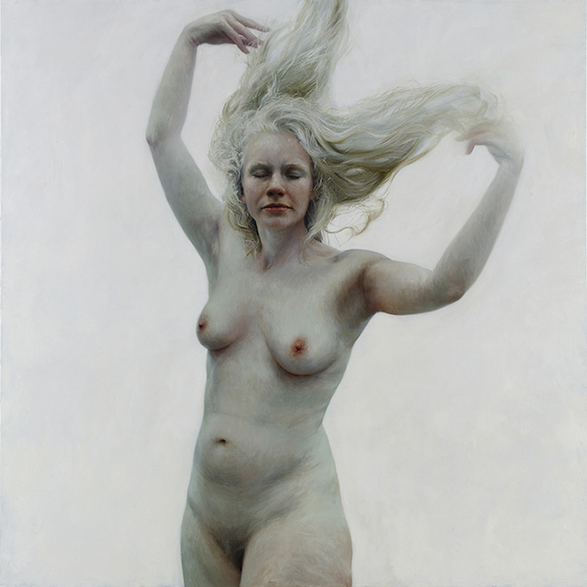 Hannah- Oil on canvas, 66 x 66 inches