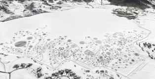 Sonja Hinrichsen - Snow Drawings at Catamount Lake
