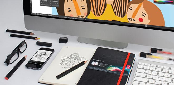 Moleskine smart notebook CC