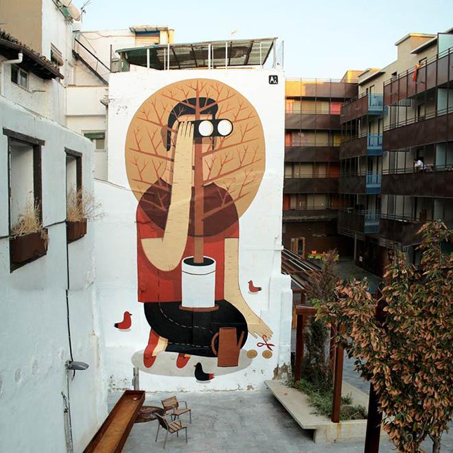 Street Art, Future Simple, Las Armas district, Zaragozza, Spain