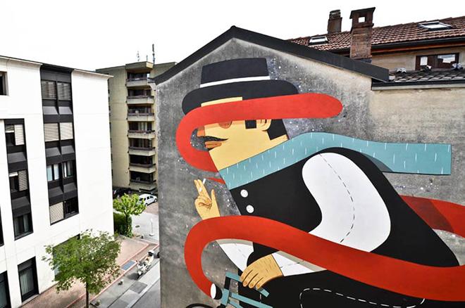 Street Art, Pietro non torna indietro  - Via Lavizzari 5, Lugano (CH)