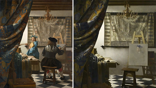 Hidden Spaces, The Allegory of Painting (Jan Vermeer, 1665)