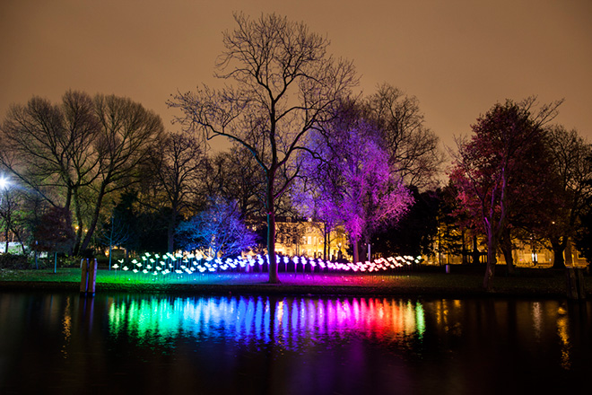 Aether & Hemera - On the Wings of Freedom, Amsterdam Light Festival