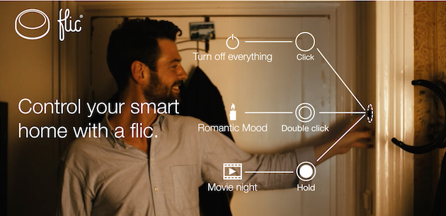Smart wireless button, control your smart home with a flic