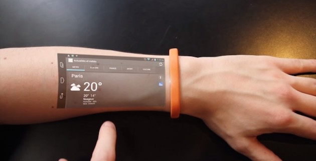 The Cicret Bracelet - Like a tablet but on your skin