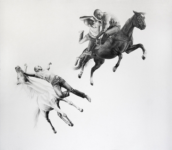 Leah Yerpe - Salt, 35 X 30 Inches Graphite And Ink On Paper, 2010