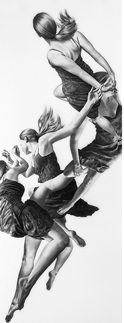 Leah Yerpe - Pavo,18 X 50 Inches Graphite And Ink On Paper, 2012
