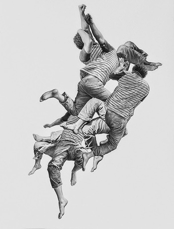 Leah Yerpe - Alchiba, graphite and ink on paper, 50 x 38 inches