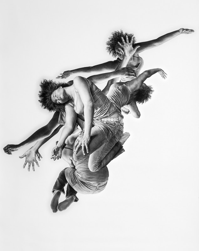 Leah Yerpe - Aquila, 2012, charcoal on paper, 91 x 72 inches