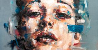 Davide Cambria, I volti dell'assenza - Questo lato della verità, Oil on canvas   50x70CM   Private Collection (Italy)