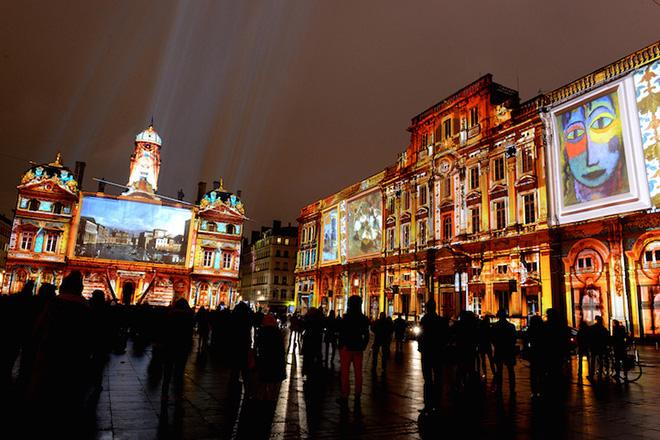 Festival of Lights in Lyon - Lyon, Land of Enlightenment by Gilbert Coudène, Etienne Guiol, Ecohlcité Photo by Muriel Chaulet