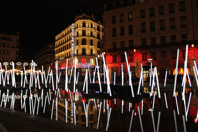 Festival of Lights in Lyon - Bamboo, the Lighted Forest Photo by Nara Shin