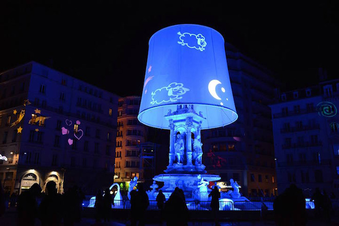 Festival of Lights in Lyon - The Night Light of the Jacobins by Christophe Mayer Photo by Muriel Chaulet