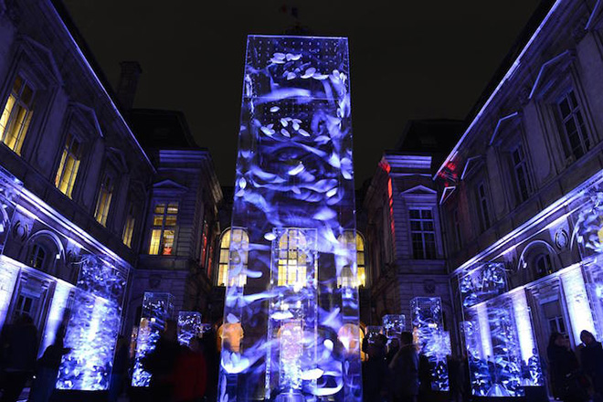 Festival of Lights in Lyon - Njörd, Spirit of the Wind by Kimi Do, Wilfried Della Rossa, Thomas Mathieu Photo by Muriel Chaulet