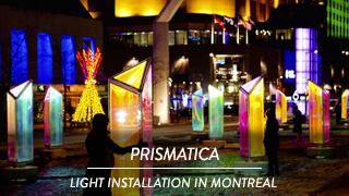Prismatica - Light installation in Montreal