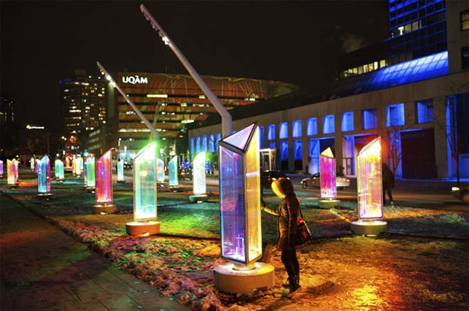 Prismatica - Light installation in Montreal